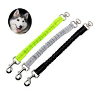 Dog Collars & Leashes Reflective Elastic Stretch Pet Lead Leash Extend Rope Anti-strain 2.5CM Cat Traction Extension Belt For Dogs
