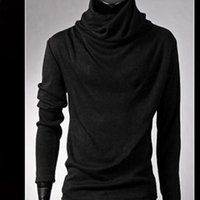 Men's Sweaters Winter Turtleneck Solid Color Fashion Knitted Pullovers Men Casual Sweater Male Autumn Knitwear