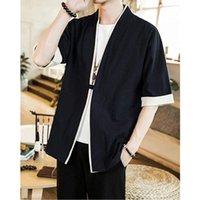 Camicie casual da uomo Casual Giapponese Kimono Cardigan Uomini Allentato Brover Manica corta Summer One Button Jacket Ancient Style