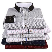Men's Casual Shirts 2021 Men Fashion Long Sleeved Printed Shirt Slim Fit Male Social Business Dress Brand For Soft Comfortable