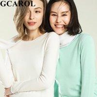 Suéteres para mujer Gcarol 2021 Mujeres Minimalista Dulces delgadas Suéter Stretch Transpirable Puente Casual Versión exterior Desgaste de las señoras Tops de punto en auge