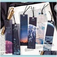 Escritorio Aessories Office School Business Industrial5PC / Paquete Roaming The Universe Bookmark Lectura PVC Bookmarks Creative Libro Página Marker Sta