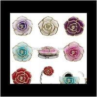 Haken Schienen Lagerung Housekeeping Organization Home Gartenmetalform Faltbare Geldbörse Tragbare Rose Tischhaken Für Kreative Multiple Bag des