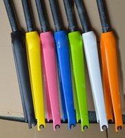 Bike Forks 1 1 8'' Road Bicycle Carbon Fiber Fork Fit C Brake And Disc Hard 700CC Parts