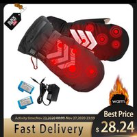 Cycling Gloves Rechargeable Hand Warmer Winter Electric Thermal Battery Heated Skiing Snowmobile Motorcycle Mittens