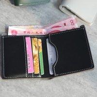Wallets Solid Color Women Leather Short Money Clip Coin Purses Fashion Woven Simple Business Spot Unisex1