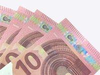 أعلى جودة بالجملة ملهى ليلي بار جو الدعامة المال فو بلات 10 20 50 100 اليورو وهمية فيلم المال بليت اللعب