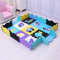 25 unids juguetes para niños EVA MAT infantil Alfombras de espuma de piso suave Mat Puzzle Play Play Mats Piso Desarrollo de alfombras de rastreo con cerca 2082 Q2