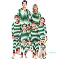 Abiti di abbinamento familiare Pigiama di Natale Set per papà mamma figlia figlio vestiti adulti bambino bambini a strisce girocollo abbigliamento domestico