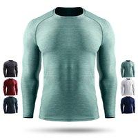 رجل الرياضة لولو تي شيرت الصيف الرجال تشغيل اللياقة البدنية الأعلى المحملات قميص الرجل تمتد سريع التجفيف ضغط طويلة الأكمام لو تي شيرت تجريب التدريب الملابس