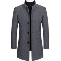 2021 Neue Wollmischungen Mantel Männer Herbst Winter Lange Trenchcoat Business Casual Dicke Wolljacke Männer Männliche Marke Kleidung