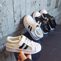Sneakers Fashion Summer Korean Men And Women Baby Children's Shoes Net Breathable Sports Shellfish Small White