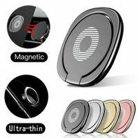 Titular do telemóvel móvel titular de anel de luxo Universal 360 graus de rotação de dedo soquete de dedo magnético
