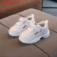XGRAVITY Boys Girls Fashion Sneakers Baby Toddler Little Kids Leather Trainers Children School Sport Shoes Soft Running 04 210914