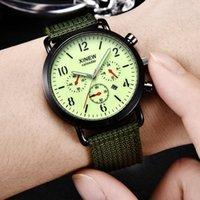 Homens de nylon banda militar relógio gemio exército de alta qualidade Quartz movimento esportes casuais relógios de pulso