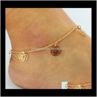 Jewelrygold Bohemian Anklet Beach Foot Jewelry Leg Chain Butterfly Dragonfly Anklets For Women Barefoot Sandals Ankle Bracelet Feet Ps2909 Dr