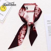 Шарфы 2021 дизайнерский дизайнер Кристан Письмо Печать Длинные тощий шарф женские шелковые атласные головы галстуки волос шарфы для дамские повязки бандана