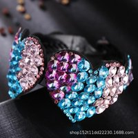 Hair Clips & Barrettes Ornament Net Red Flower Clip Female Disc God Water Drill Card Top Twisting Horse Tail Buckle