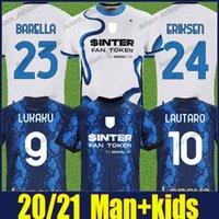 Inter Lukaku Futbol Formaları Oyuncu Sürüm Calhanoğlu Eriksen Lautaro Futbol Gömlek Nerazzurri Alexis Brozovic Skriniar Barella Jersey Adam Kids Kiti 2021/22 Üst