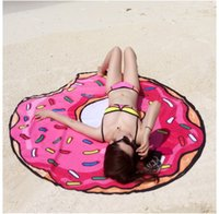 / Donut Food Tache ronde Tapis à la mode Pizza Hamburger Beach Serviette Mesa
