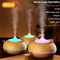 Humidifiers Aromatherapy Essential Oil Diffuser Wood Grain Air Humidifier Cool Mister Distributor Aroma Electric For Home With LED Light