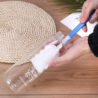 Neue praktische Schwammbecher Reinigungsbürsten mit Kunststoffgriff Home Bar Flasche Wäscherbürste EWE6377