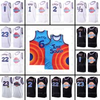 NCAA Mens Movie Space Jam 2 Jersey Bugs Bunny Tunes Squad D.Duck! TAZ 1/3 Tweety 22 Bill Murray 10 Lola Basketbol Formaları