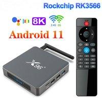 X96 X6 TV Box Android 11 8GB RAM 128GB Rockchip RK3566 دعم 4K 2T2R MIMO المزدوج واي فاي 1000 متر 4G 64GB 32GB وسائط الوسائط مشغل