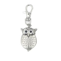 Owl Charm Unisex Fashion Roman Number Quartz Pocket Sleutelhanger Horloge Party Gunst en Gift Groothandel CCF7641