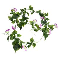 Decorative Flowers & Wreaths 2Pcs Artificial Ivy Plants Garland 2. Plant Suspended Bindweed Decorating For Garden Wedding Bal