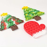 Christmas tree Xmas stocking push pops bubble popper board sensory fidget finger puzzle toys key ring keychain kids poo-its game pad early learning education G83JNEH