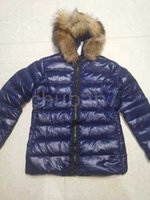 إمرأة أسفل سترة الشتاء ستر معاطف أعلى جودة النساء عارضة في الهواء الطلق ريشة أبلى الصف يندبروف و دافئ قبعة انفصال قميص الفراء طوق معطف SAS