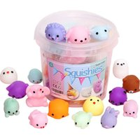 Squishies Squishy Toy 36pcs for Kids Party Favors Mini Kawaii Stress Reliever Anxiety Toys Easter Basket Stuffers Fillers with Storage Box Boys & Girls Birthday Gifts