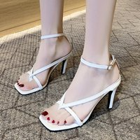 Dress Shoes Women Pumps Summer Stiletto Ankle Strap Rome Sandals Woman Sexy Open Toe Party Fashion High Heel Ladies 2021