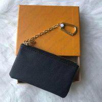 Bolsa chave wallet designer moda mulheres homens anel titular de cartão de crédito moeda mini saco acessórios de charme
