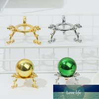 Figurines 1Pc Gold-plated Ball Stand Metal Display Holder Rack Support Base For Soccer Volleyball Basketball Football Home Decor Ornament