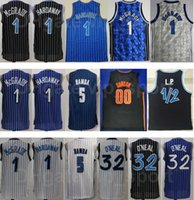 Hommes Basketball Aaron Gordon Jersey 00 Mohamed Bamba 5 Tracy McGrady Penny Penny Hardaway 1 Shaquille Oneal Black Blue Team White Equipe respirante Excellente qualité