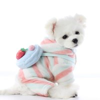Dog Apparel 2021 Winter Clothing Cute Strawberry Jumpsuit Pomeranian Yorkshire Terrier Costume Puppy Poodle Schnauzer Pet Clothes