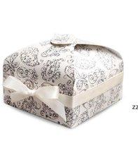 Embalaje regalo envoltura cajas de embalaje Papel cupcake Box Moda Galleta Biscuit postre Cocina Cocina Bakeware Fiesta Suministros 3 colores HWE8854
