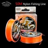 Hera 50M Оранжевая Моноволокна Рыбалка Супер Прочный Прочный Мягкий Нейлон Япония Материал Проволока для Carp Рыба Коса