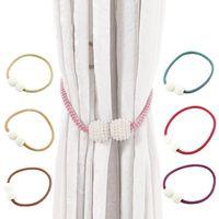 Cortinas de perlas Soporte de gancho de imán para cortina Tiebacks Hebilla Clips Imanes para el hogar Accesorios de varilla Decoración Otra decoración
