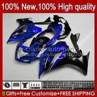 Corpo para Suzuki Katana GSXF 650 GSXF650 GSX650F Glossy Bodyworks azul 18HC.19 GSX-650F 2009 2010 2011 2012 2013 2014 GSX 650F GSXF-650 08 09 10 11 12 13 14 Feeding