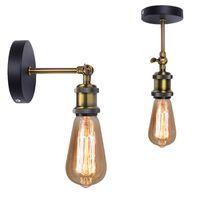 Lampade da parete Nordic Lampada LED Lampada Industriale Vintage Iron Sconce Lighting Lighting Apparecchio a soffitto luce per camera da letto Ristorante Corridoio