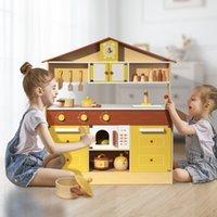 Otros niños Muebles Pretender de madera Play Set de cocina para niños US Warehouse