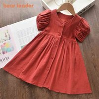 Bear Leader Girl Casual Dress Fashion Princess Dresses Girls Sweet Costumes Cute Outfits Baby Vestidos for 3 7Y 210802