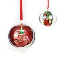 5 cm Şeffaf Plastik Noel Topu Asılı Kolye Oranment Hollow Topları Ve Süblimasyon Boş MDF Süs Noel Dekorasyon 50 adet Ücretsiz DHL HH21-595