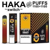 Authentic Haka Switch 2in1 Dispositivo di pod monouso 2 in 1 Penna Penna VAPE POD 2200 Spilloni da 7 ml 950mAh Dairy Bar Stick