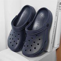 Tıkaroz Kadın Sandalet 2021 Yaz Bayanlar Plaj Yeşil Timsah Ayakkabı Eva Hafif Sandles Düz Unisex Renkli Ayakkabı Sandalias Y0714