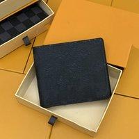 Menswomens Oliver RFID Кошелек Безопасный минималистский передний карманные изделия роскошной гладкой кожи поставляется в подарочной коробке