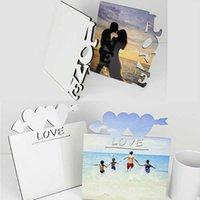 新しいアートブランク昇華フレームMDF木の熱伝達写真板ラブシェイプDIYバレンタインデーのギフト卸売